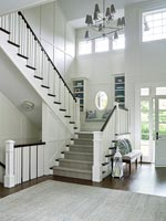 White entrance and hallway