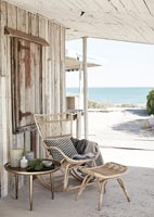 Rustic seaside terrace