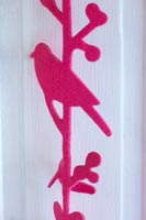 Pink bird decoration detail