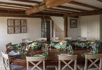 Country dining room at Christmas