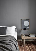 Grey and white modern bedroom