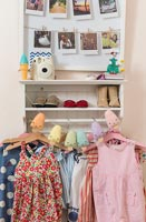 Open wardrobe in childrens room