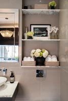 Modern bathroom shelving