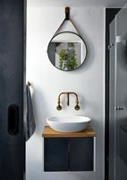 Small monochrome bathroom sink