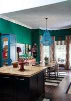 Colourful and eclectic kitchen-diner