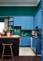 Colourful and eclectic kitchen