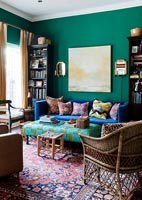 Colourful living room