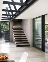 Minimal contemporary hallway and staircase