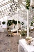 Orangery decorated for Christmas