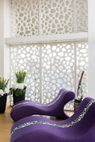 Contemporary chairs with privacy screen