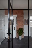 Modern glass internal door