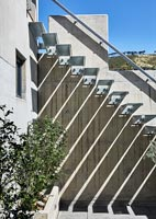 Modern exterior steel staircase