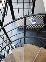 Modern spiral staircase close up
