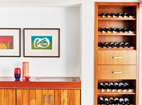 Wine rack and sideboard