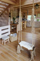 Swing in cottage house