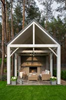 Summerhouse with fireplace