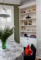 Classic kitchen and dining room detail