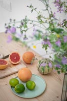 Fruit on country kitchen worktop
