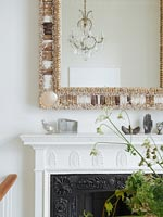 Modern fireplace detail