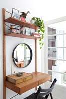 Compact dressing table and shelf unit