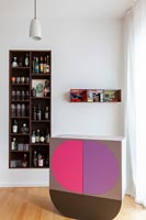 Colourful bar in modern living room