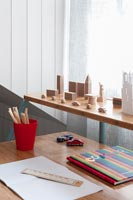 Desk in modern childrens room