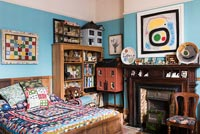 Colourful eclectic country bedroom