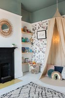 Canopy tent in modern childrens bedroom