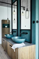 Modern bathroom - double sinks