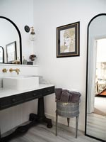 Modern black and white sink