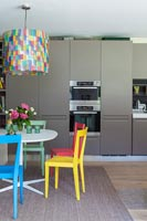 Modern kitchen with colourful furniture