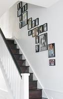Black and white modern staircase