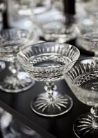 Detail of crystal glasses