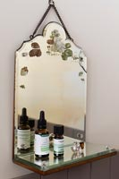 Vintage mirror with shelf