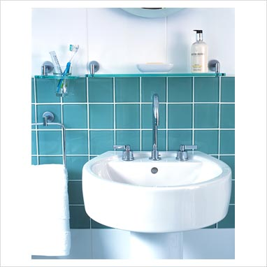 Cloakroom splashback ideas ideas for decorating your for Sink splashback ideas