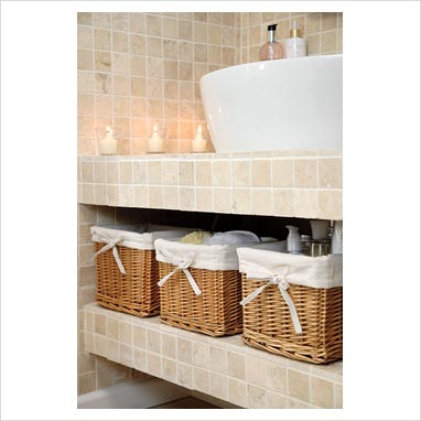 bathroom storage ideas baskets. Black Bedroom Furniture Sets. Home Design Ideas