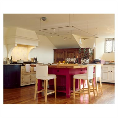 Gap interiors large kitchen with island breakfast bar and aga