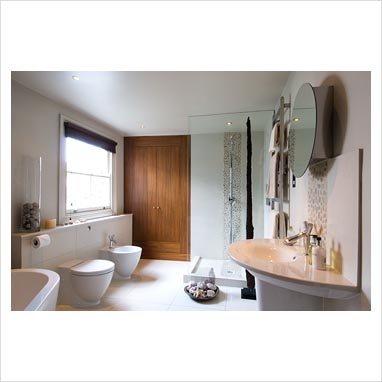 Modern Bathroom Sinks on Gap Interiors   Modern Bathroom With Philippe Starck Sink   Picture