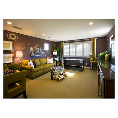 Gap Interiors Contemporary Purple And Green Living Room