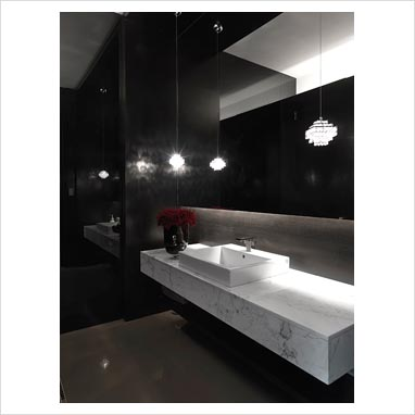 GAP Interiors - Modern sink on marble counter - Picture library