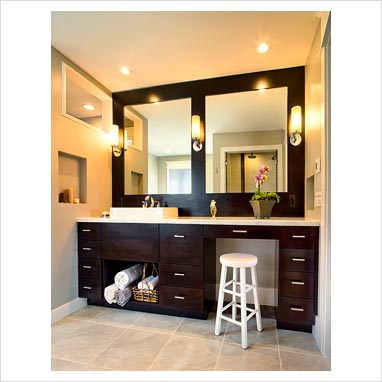 Modern Bathroom Lights on Gap Interiors   Contemporary Bathroom Sink And Vanity Unit   Picture