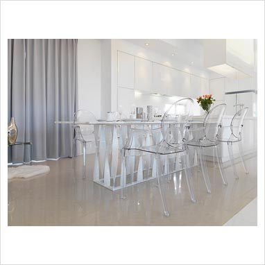 clear dining table and chairs. home home furniture eydon clear