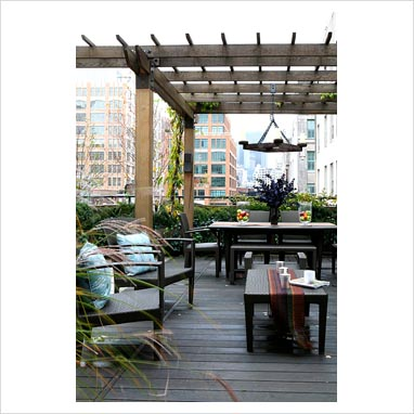 Modern Outdoor Furniture on Gap Interiors   Modern Roof Garden   Picture Library Specialising In