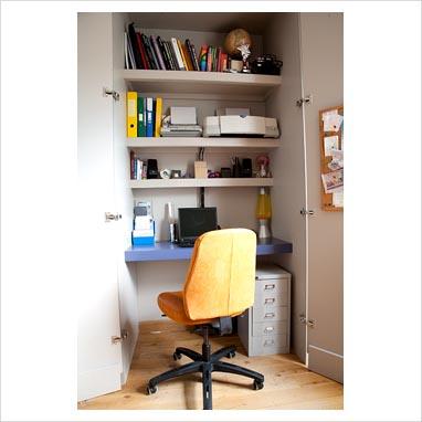 gap interiors hidden office in cupboard picture