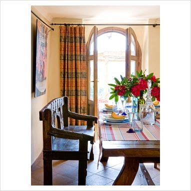 gap interiors country dining room with french doors
