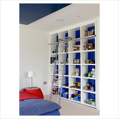 gap interiors shelving unit in modern childrens bedroom picture