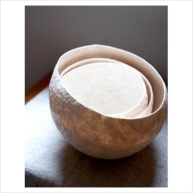 papier mache bowls. Papier mache bowls, detail
