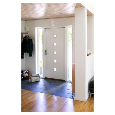 Modern Exterior Front Doors on Gap Interiors   Modern Front Door And Hallway   Picture Library