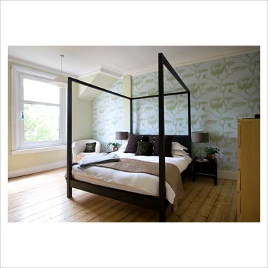 Gap Interiors Four Poster Bed In Modern Bedroom