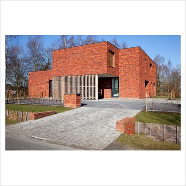 Gap Interiors Modern Red Brick House Exterior Picture